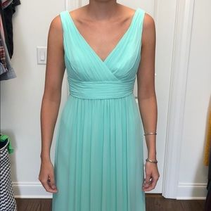 Watters Mint Green Chiffon Dress